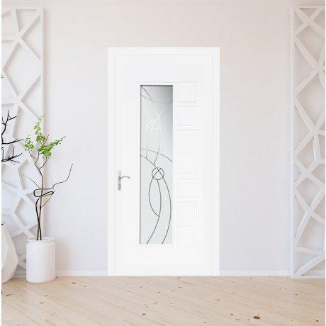 Porte d'entrée PVC modèle 8011