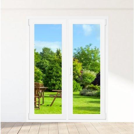 Porte-fenêtre PVC 2 vantaux - sur mesure
