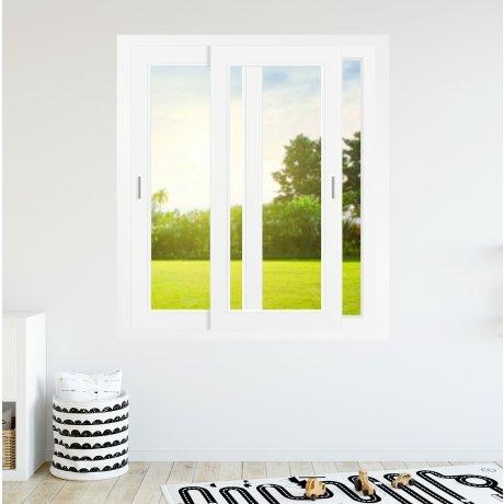 Fenêtre coulissante PVC 2 vantaux 2 rails - sur mesure