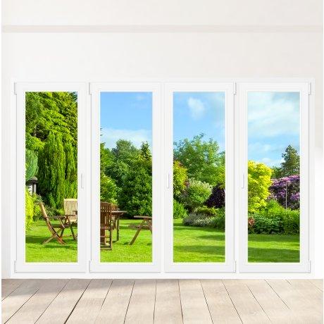 Porte-fenêtre PVC 4 vantaux - sur mesure