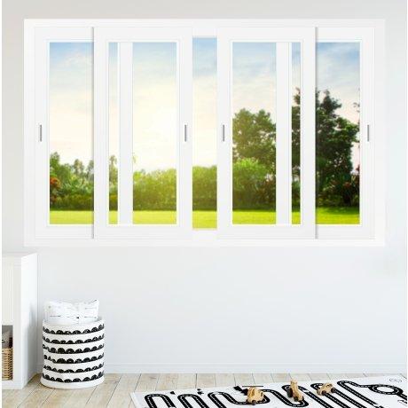 Fenêtre coulissante PVC 4 vantaux 2 rails - sur mesure